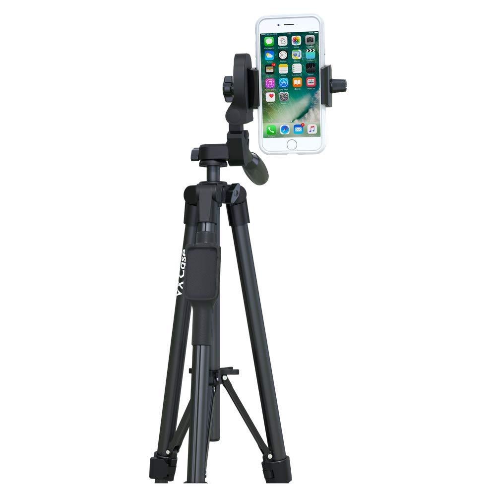 Tripé Fotográfico VX Case Profissional para Câmera e Suporte para Smartphones Preto